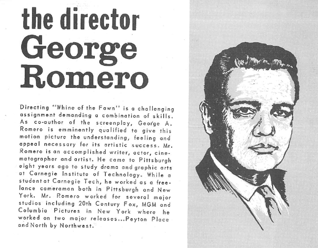 Bio for unmade Romero film - GEORGE A ROMERO ARCHIVAL COLLECTION. PITT UNIVERSITY LIBRARY SYSTEMS
