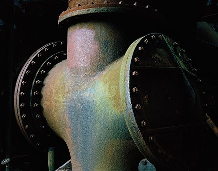 """""""Cold Blast Main, Carrie Furnace, Pittsburgh, 14/10/2015 (skin; yours and mine),"""" a photograph by Fiona Amundsen"""