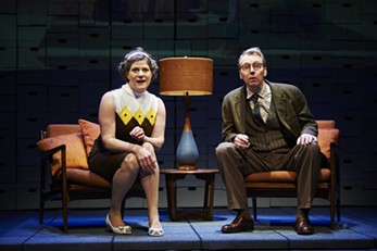 """Elizabeth Rich, as Marta Rudolph, and Jonathan Tindle, as Arthur Rudolph, in """"Some Brighter Distance."""" - PHOTO COURTESY OF KRISTI JAN HOOVER"""
