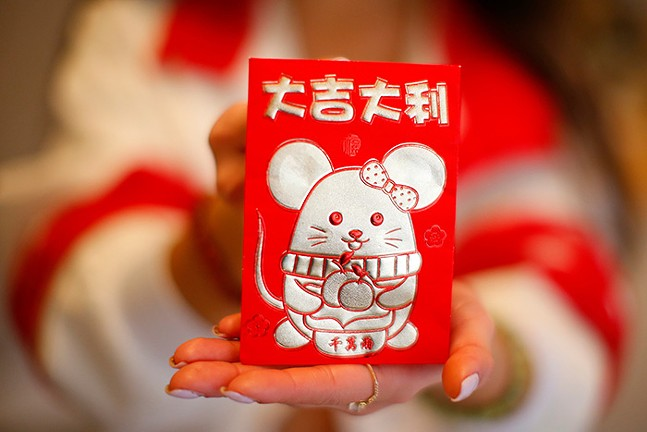 A close-up of Michelle Truong's Lunar New Year red envelope (lì xì) - CP PHOTO: JARED WICKERHAM