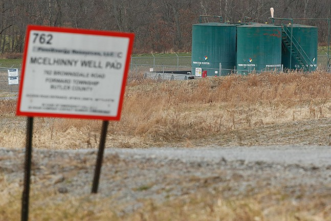 A horizontal well for a natural gas drilling site in Butler County - CP PHOTO: JARED WICKERHAM