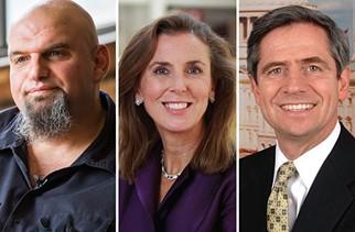 John Fetterman, Katie McGinty, and Joe Sestak - PHOTOS COURTESY OF CANDIDATES
