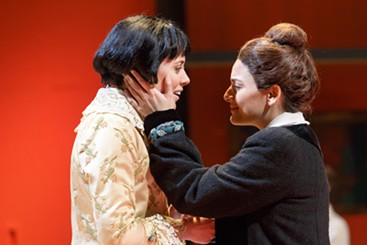 "Adelaide Boedecker (left) and Laurel Semerdjian in Pittsburgh Opera's ""27"" - PHOTO COURTESY OF DAVID BACHMAN PHOTOGRAPHY"