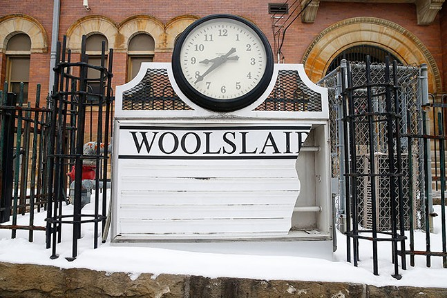 Damages to the sign at Woolslair Elementary School - CP PHOTO: JARED WICKERHAM