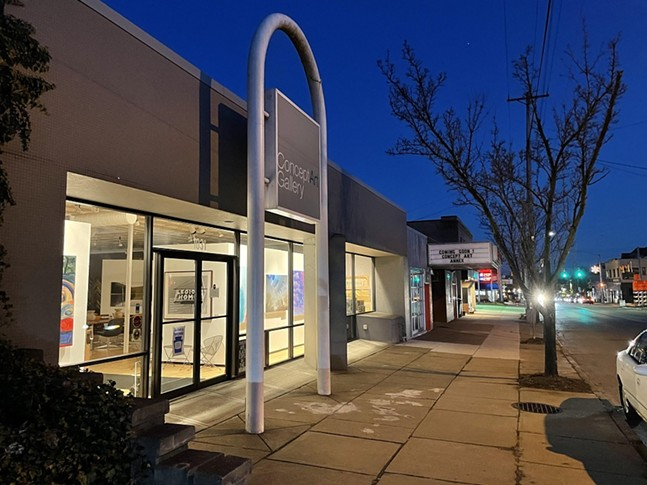 Concept Art Gallery and Regent Square Theater on South Braddock Avenue - PHOTO: DANIEL MCCUSKER/CONCEPT ART GALLERY