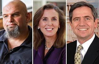 John Fetterman, Katie McGinty and Joe Sestak - PHOTOS COURTESY OF CANDIDATES