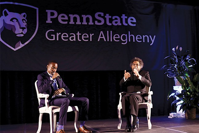Since 2017, Penn State Greater Allegheny's Crossing Bridges Summit has invited national and local speakers to address racism. In 2019, Dr. Johnathan White, Assistant Teaching Professor of History at Greater Allegheny spoke with Dr. Cornel West.