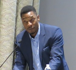 Terrance Hayes at last night's event - PHOTO BY BILL O'DRISCOLL