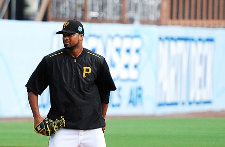 Francisco Liriano at Pirates spring training - PHOTO BY CHARLIE DEITCH
