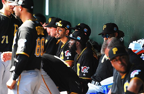Inside the Pirates dugout - PHOTO BY CHARLIE DEITCH