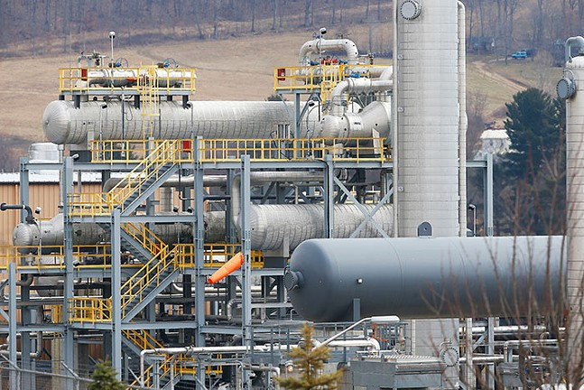 The MarkWest Energy Bluestone Processing Plant in Evans City, Butler County, which processes natural gas. - CP PHOTO: JARED WICKERHAM