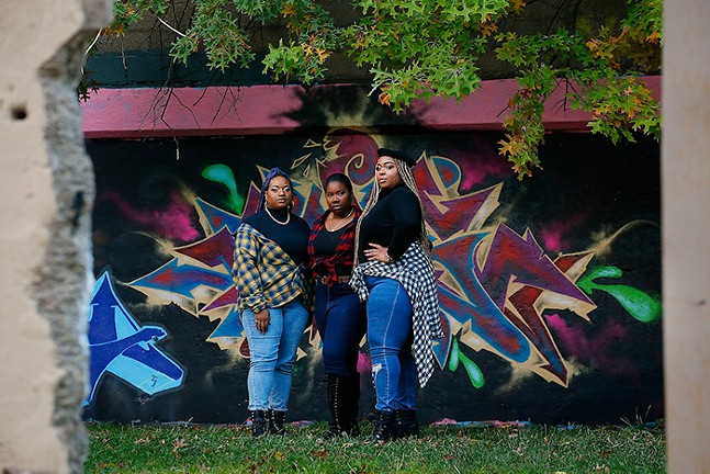 Mia Marshall, Janita Kilgore, and Markeea Hart of Girls Running Shit - CP PHOTO: JARED WICKERHAM, STYLING: BRADLEY HILL