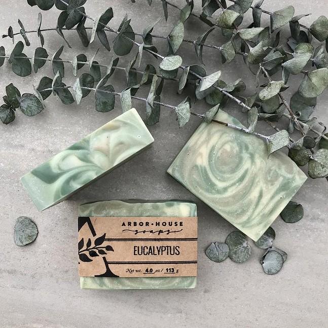 Eucalyptus soap from Arbor House Soaps - PHOTO: ARBOR HOUSE
