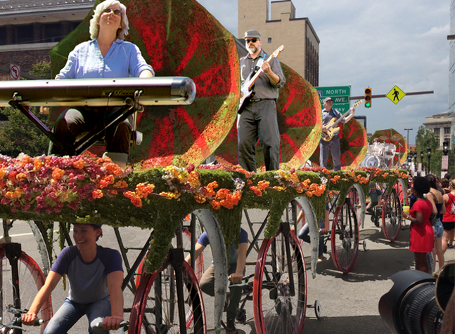 """Squonk Opera's """"Cycle Sonic"""" - PHOTO COURTESY OF PITTSBURGH CULTURAL TRUST"""