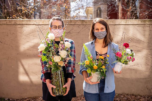 Erin Phillips and Abi Webb, owners of Root Seller Pgh - CP PHOTO: KAYCEE ORWIG