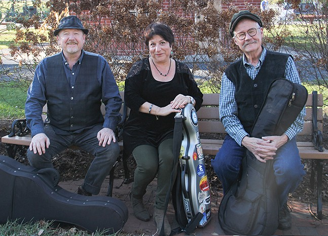 Beverley Street members Allan Carr, Janie Rothfield, and Bill Wellington, part of Calliope's Celtic Music Fest - PHOTO: SANDY PARKS