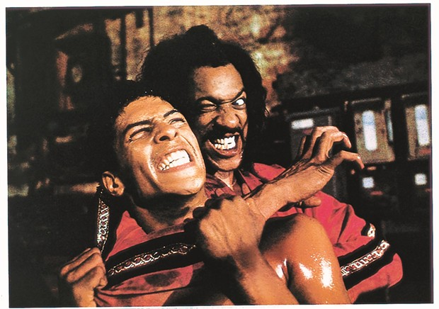 BATTLE OF THE MASTERS IN THE LAST DRAGON: LEROY GREEN (TAIMAK) AND SHO-NUFF (JULIUS CARRY)