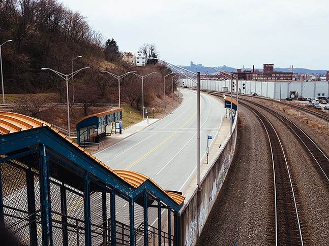 MLK East Busway at Herron Station in Polish HIll - CP PHOTO: JARED MURPHY