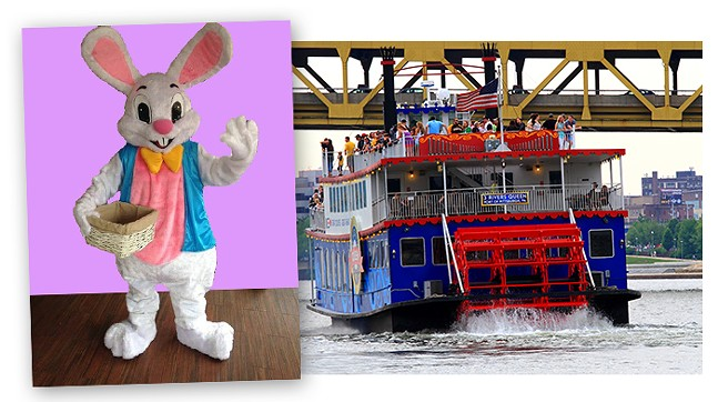 Three Rivers Sightseeing with Easter Bunny on the Gateway Clipper Fleet - PHOTO: GATEWAY CLIPPER