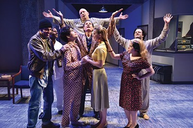 """A scene from barebones' """"One Flew Over the Cuckoo's Nest"""" - PHOTO COURTESY OF LOUIS STEIN"""
