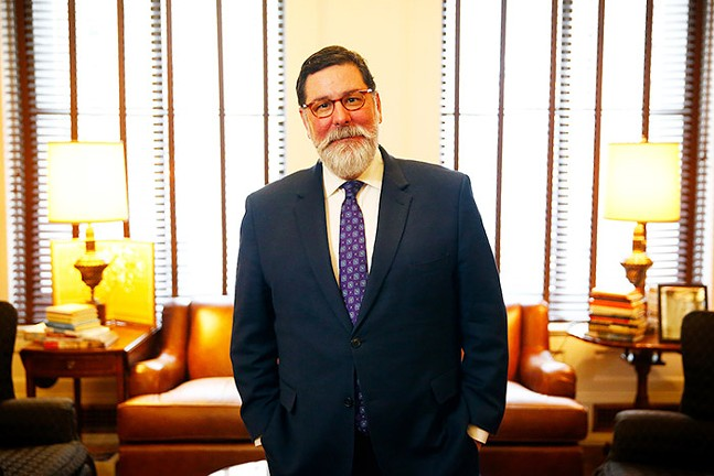Mayor Bill Peduto poses for a portrait inside his office at the City County Building in February 2020 in Downtown Pittsburgh. - CP PHOTO: JARED WICKERHAM