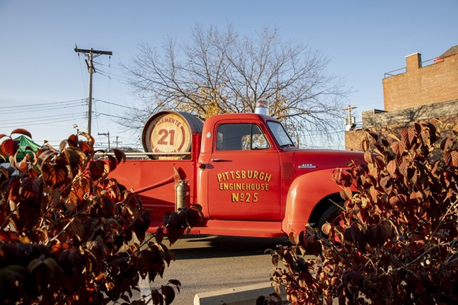 Red Enginehouse Truck at the Clemente Museum - PHOTO: COURTESY OF THE CLEMENTE MUSEUM