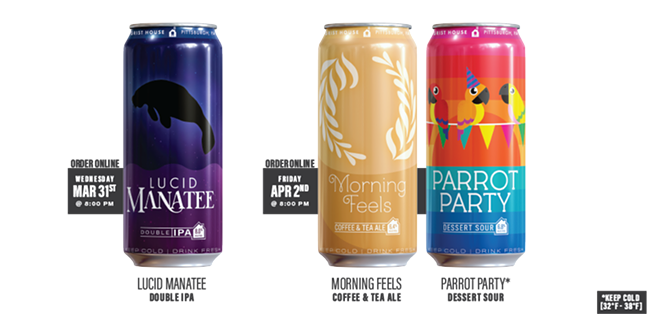 Grist House's new canned beers - PHOTO: COURTESY OF GRIST HOUSE