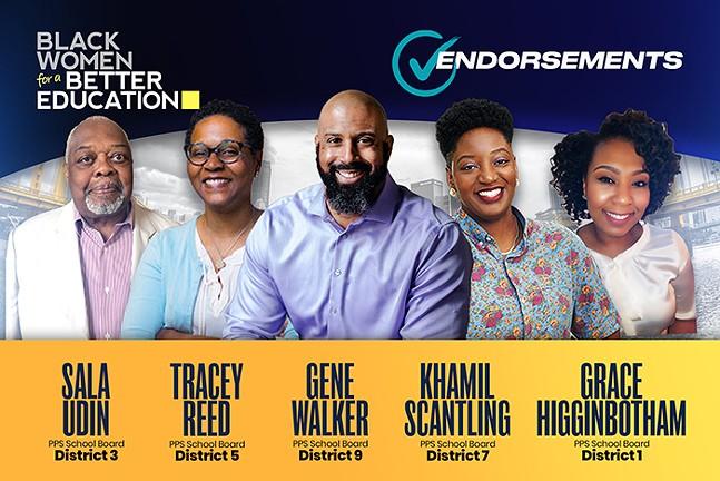 Black Women for a Better Education's slate of endorsed Pittsburgh Public School board candidates - IMAGE COURTESY OF BLACK WOMEN FOR A BETTER EDUCATION