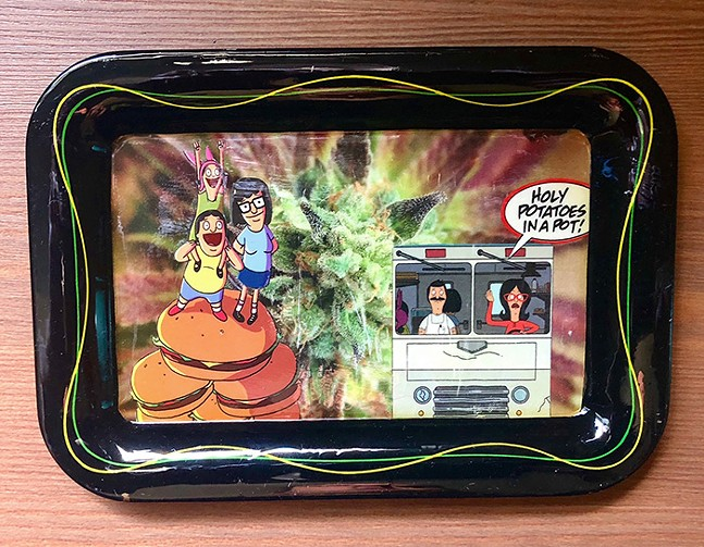Bob's Burgers rolling tray by DeMussi Designs - PHOTO: DEMUSSI DESIGNS