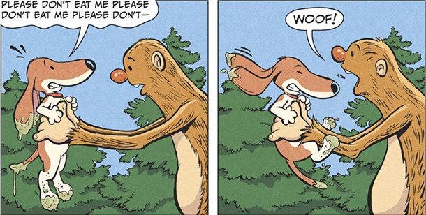 A panel from Vince Dorse's Untold Tales of Bigfoot
