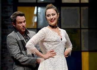 "Christian Conn and Whitney Maris Brown in ""Venus in Fur"" - PHOTO COURTESY OF PITTSBURGH PUBLIC THEATER"