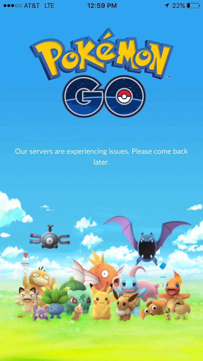 A screen all too familiar to Pokemon Go players. - NIANTIC