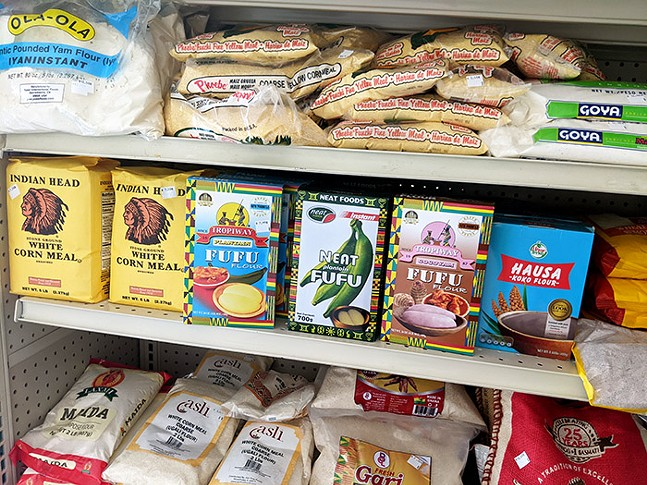 Groceries for sale inside East African Grocery in McKees Rocks - PHOTO: COURTESY OF JUST HARVEST
