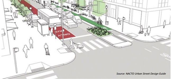 An example of Complete Streets design - IMAGE COURTESY OF PITTSBURGH DEPARTMENT OF CITY PLANNING
