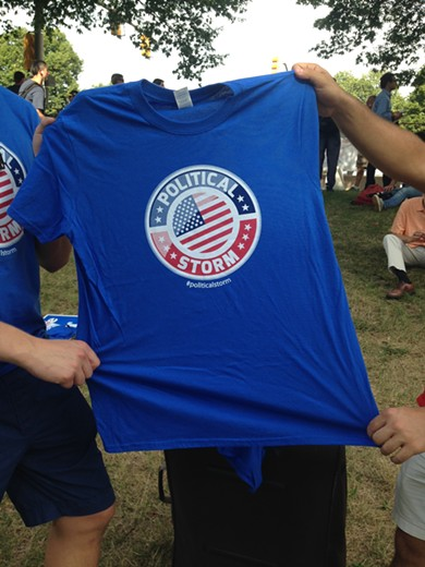 Political Storm t-shirt sold for $2 and made in Nicaragua - PHOTO BY RYAN DETO