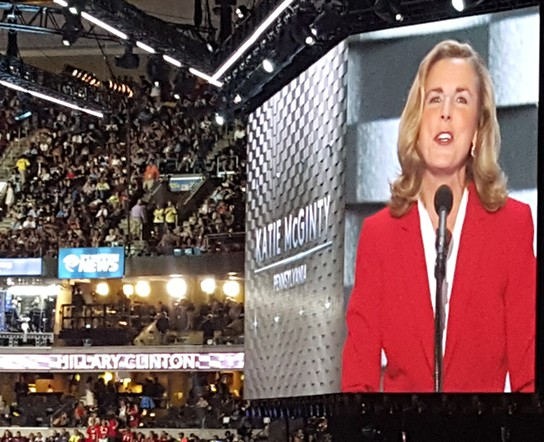 Pennsylvania Democratic U.S. Senate nominee Katie McGinty - PHOTO BY REBECCA ADDISON