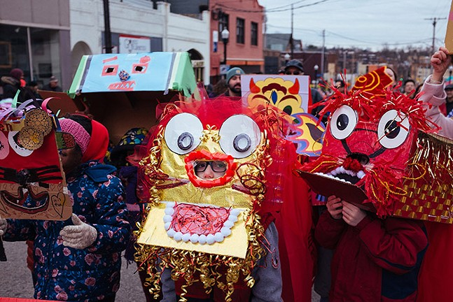 The OCA Pittsburgh's 2019 Lunar New Year parade in Squirrel Hill - CP PHOTO: JARED MURPHY