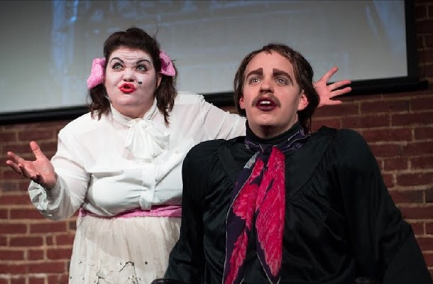 """Missy Moreno (left) and Connor McCanlus in """"Whatever Happened to babyGRAND?"""" - PHOTO COURTESY OF MICHAEL RUBINO"""