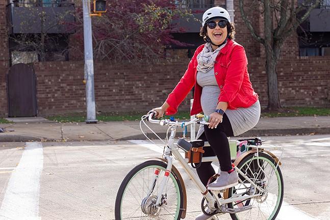 Women & Non-Binary Confident & Comfortable Cycling Workshop - PHOTO: BIKEPGH