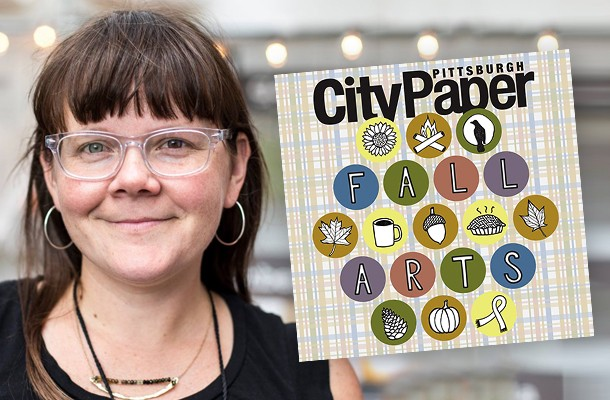 Amy Garbark and her Fall Arts Preview cover - PHOTO COURTESY OF MATT DAYAK