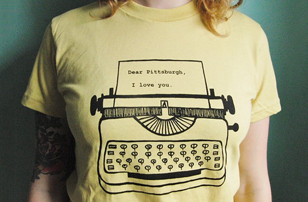 """We featured garbella's """"Dear Pittsburgh, I love you"""" t-shirt in our Stuff We Like section in 2015 - PHOTO COURTESY OF MATT DAYAK"""