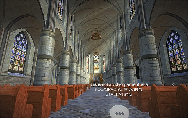 The cathedral performance space in Soundscape.social's first concert. - SCREENSHOT TAKEN FROM SOUNDSCAPE.SOCIAL