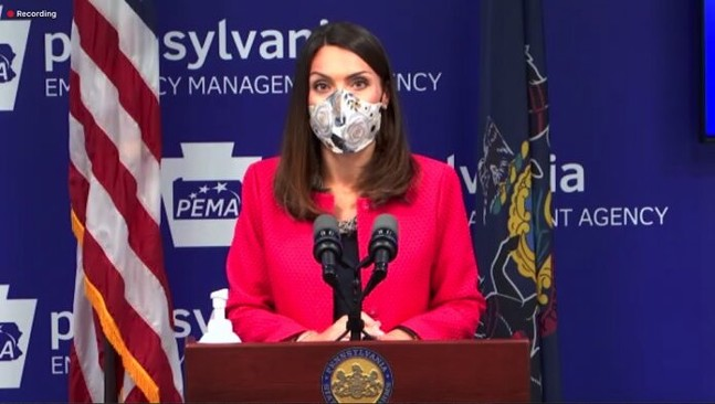 Department of Health Acting Secretary Alison Beam speaks at a press conference. - SCREENSHOT TAKEN FROM HEALTH.PA.GOV