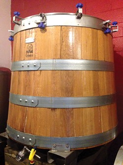 An oak foudre at Insurrection AleWorks - CP PHOTO BY CELINE ROBERTS