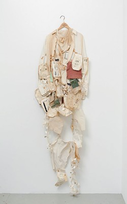 """Alison Knowles' """"Book in a Shirt"""" - PHOTO COURTESY OF THE ARTIST AND JAMES FUENTES GALLERY, NEW YORK"""