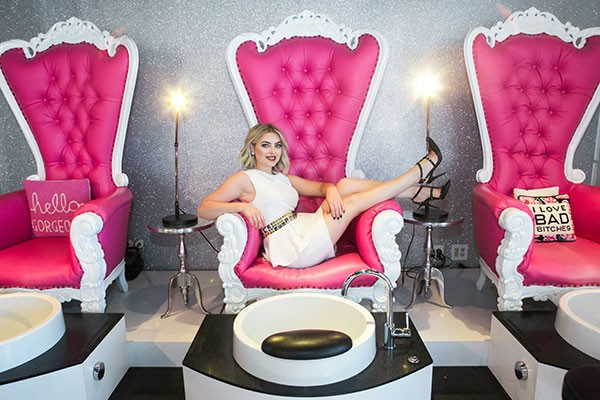 Dallas Sauers, owner of your choice for Best Nail Salon, Dallas Beauty Lounge - CP PHOTO BY JOHN COLOMBO