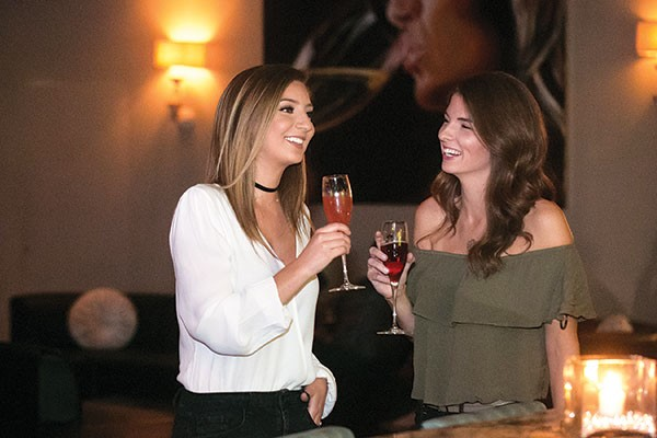 Jillian Swisher and Theresa Peranteau at Perle, winner of Best Place for a Girls' Night Out - CP PHOTO BY JOHN COLOMBO