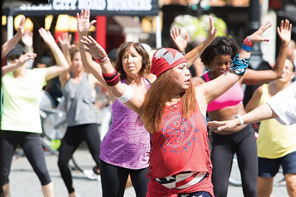 Zumba during July's OpenStreets PGH, winner of Best Street Festival - CP PHOTO BY LUKE THOR TRAVIS