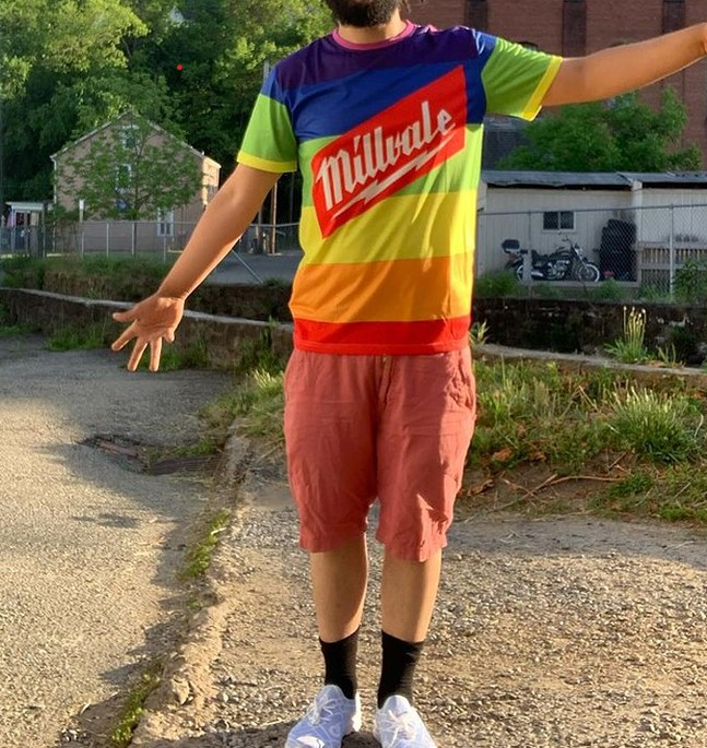 Curated Flame Pride tee - PHOTO: COURTESY OF CURATED FLAME