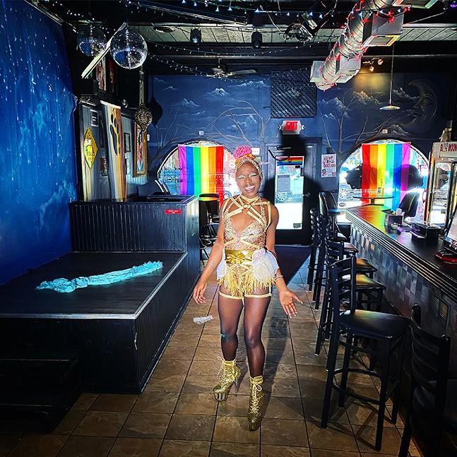Luna Plexus performing at Blue Moon for  Life is Drag, part of Bloomfield Garden Club - PHOTO: RACHEL RAMPLEMAN